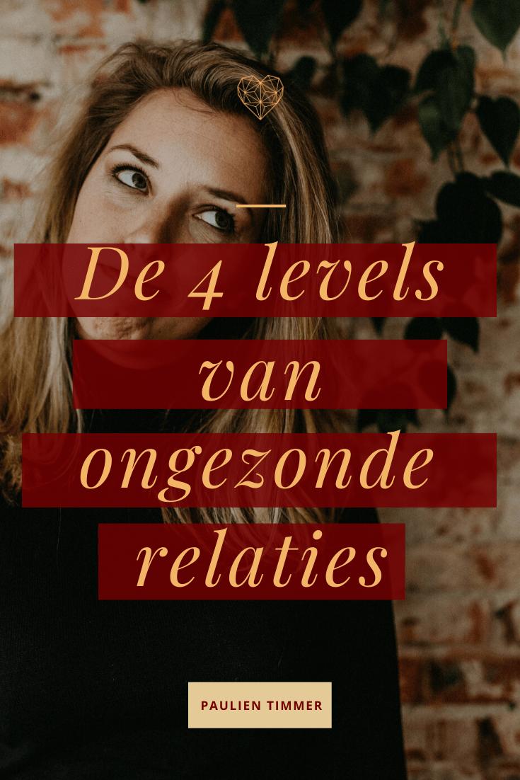 De 4 levels van ongezonde relaties